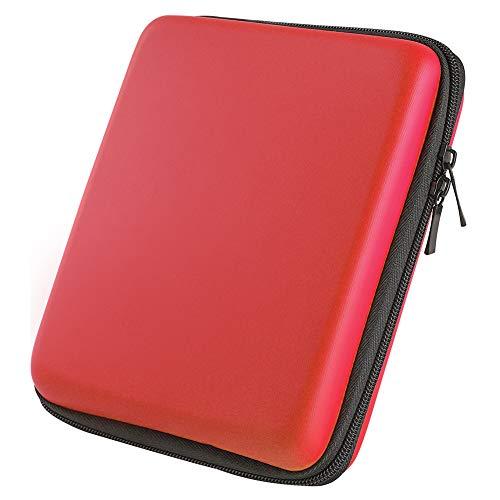 Asiv Eva Duro Protettivo Deposito Zip Viaggi Caso Copertura Borsa Titolare con Portare Maniglia per Nintendo 2DS Rosso