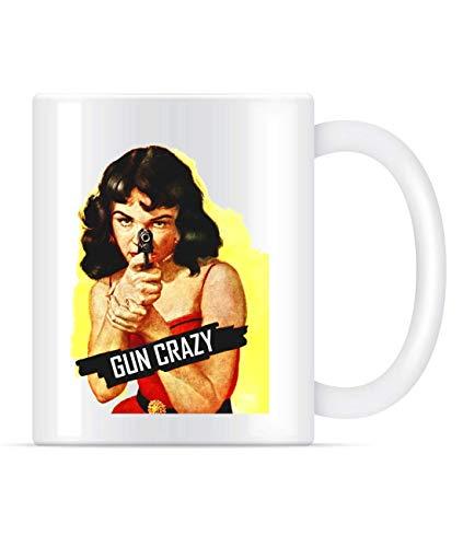 N\A Gun Crazy Classic Sexy Girl - Taza de café para hombre y mujer