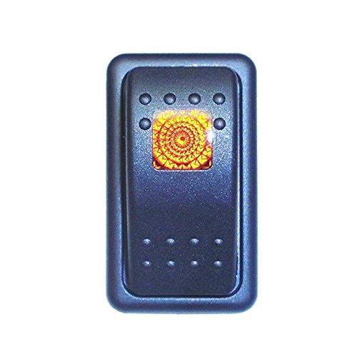 Mintice Interrupteur Commutateur à Bascule LED Jaune 4 Pin pour Voiture Marine Moto support de logement