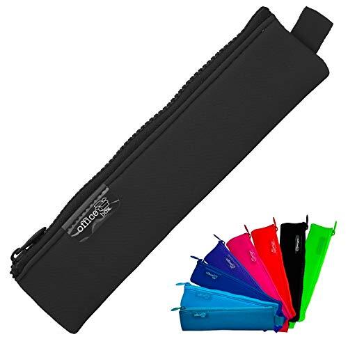 Colorline 59480 - Astuccio Portapenne / Portatutto Mini di Neoprene, Custodia Multi Purpose da Viaggio, Materiale Scolastico, Articoli da Bagno e Accessori. Colore Nero, Misure 20 x 5 cm