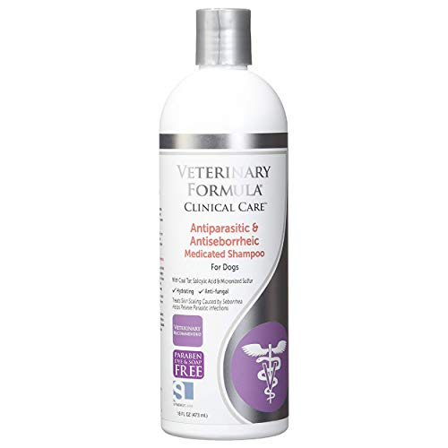 Veterinary Formula Clinical Care Anti-parasitic and Anti-seborrheic Medicated Shampoo for Dogs