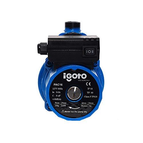 Igoto Pump PAC16 Presurizador Automático 1/6 HP, 1 Servicio