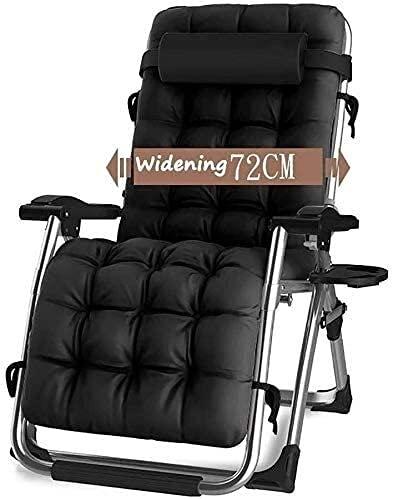 Sedie sdraio da patio a gravità zero reclinabili per patio e lounge reclinabili, sedie pieghevoli per prati a gravità zero, supporto 190,5 kg, per piscina e campeggio