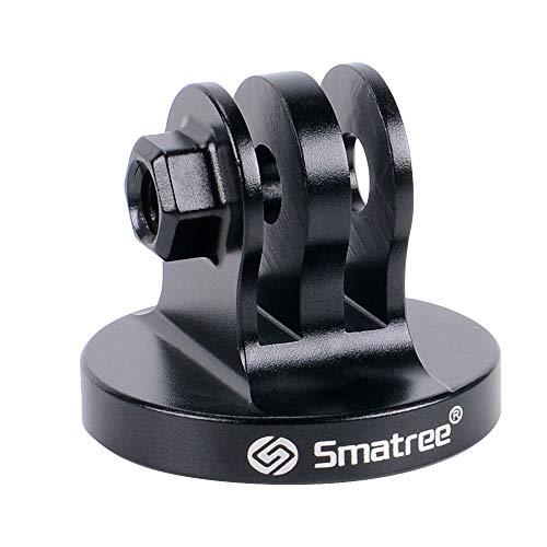 Smatree Aluminium-Stativ-Adapter für GoPro Session, GoPro Hero 2018, GoPro HeroFusion, GoPro Hero8/7/6/5/4/3/2/1 Kameras, Schwarz