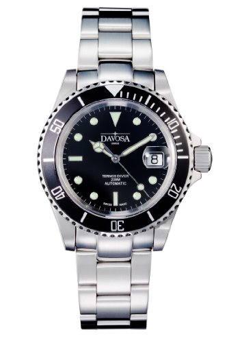 Davosa Herren-Armbanduhr Analog Edelstahl schwarz 16155550