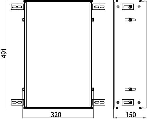 Emco Asis 300 inbouwframe, voor inbouwkasten Asis, voor kastmodules met een hoogte van 495 mm - 973200031