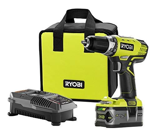 RYOBI P1814 18-Volt ONE+ Lithium-Ion Cordless Drill/Driver Kit