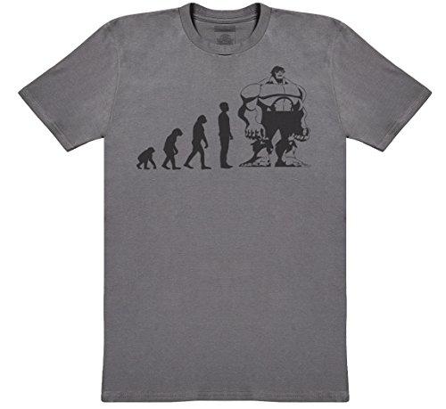 Evolution to Hulk Herren T-Shirt - Herren T-Shirt Geschenk - Charcoal Grau, Medium