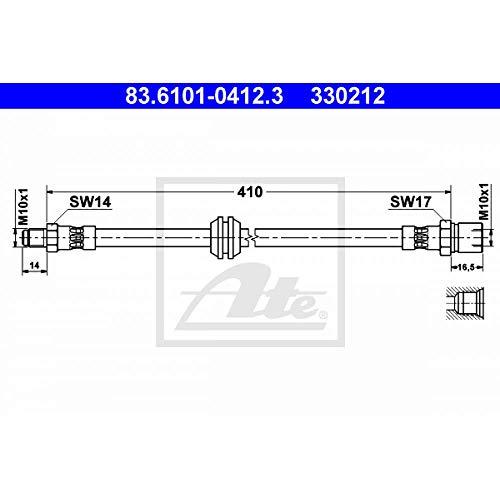 eintragungsfrei Stahlflex Bremsleitungen Porsche 924 2,0 ab BJ 80 mit ABE