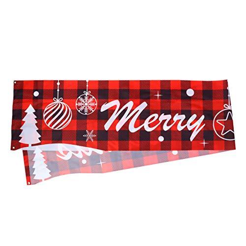 TOYANDONA Joyeux Noël Bannière Extérieure Grand Signe de Noël Décoration d arbre de Noël Suspendus Vacances Fournitures de Fête pour Jardin Maison Jardin