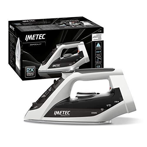 Imetec 9012 ZeroCalc - Plancha antical, Suela en cerámica de Alto Deslizamiento, tecnología de Ahorro energético, 2200 W, Golpe de Vapor, 130 g