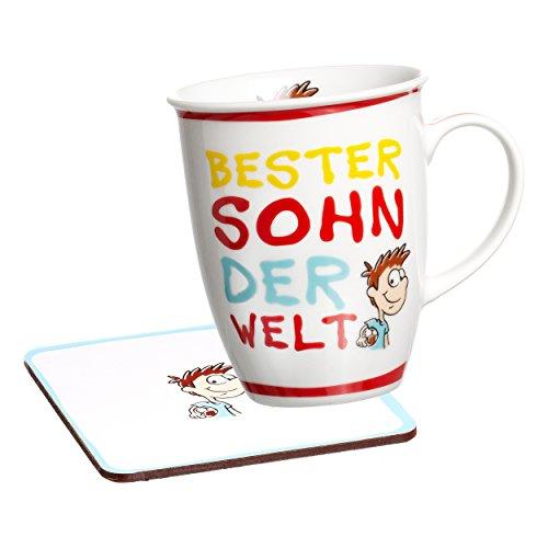 Ritzenhoff & Breker Beste Becher Kaffeebecher, Tasse, Motiv: Bester Sohn, Rot, 24753