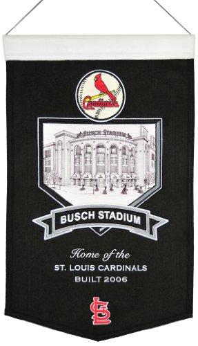 Winning Streak MLB Baseball St. Louis Cardinals Stadium Series Ballpark Busch Stadium Wimpel Pennant Wool Blend Banner 58x38