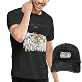 Baostic Camisetas y Tops Hombre Polos y Camisas, Men's Foster The People Torches Tshirt and Washed Denim Baseball Dad Hats Black