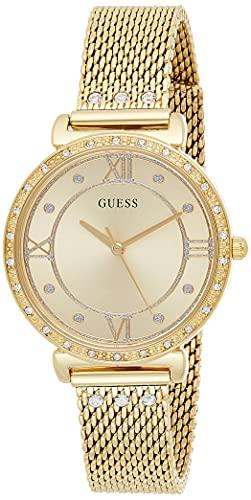Guess Damen Analog Uhr mit Edelstahl Armband