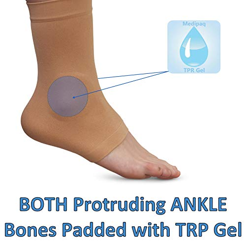 Medipaq® Gel Both Ankles Protection Sock - Protect Lateral & Medial Malleolar Protruding Ankle Bones