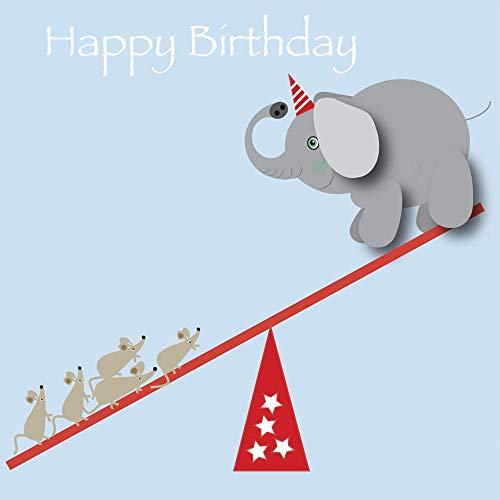Olifant Gelukkige Verjaardagskaart