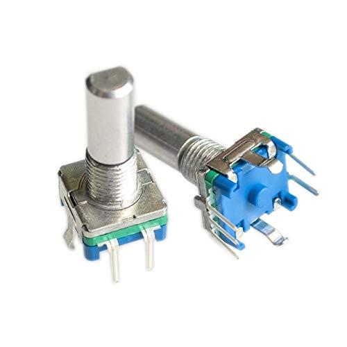 Original, codificador giratorio, interruptor de código / EC11 / potenciómetro digital de audio, con interruptor, 5 pines, longitud del mango 20 mm