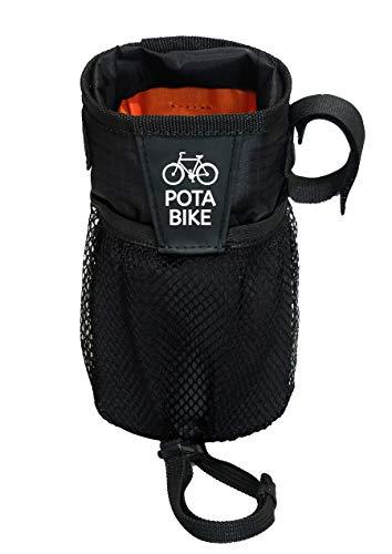 POTA BIKE(ポタバイク) ステムサイドポーチ 自転車用ハンドルポーチ/ドリンクホルダー (ブラック)