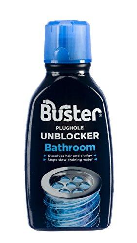 Buster Bathroom Plughole Unblocker, Dissolves hair and sludge 300ml, Pack...