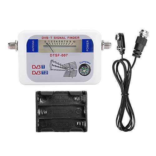 DAUERHAFT Medidor de Intensidad de la señal del buscador de satélite con Sensor Inteligente Digital Compatible con HD, para TV, para Antena satelital remota