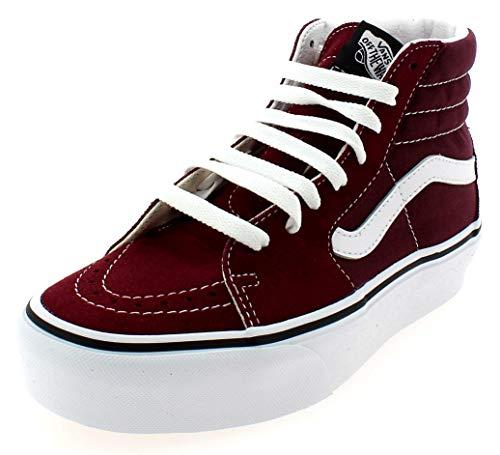 VANS SK8 HI Platform Zapatos Deportivos para Mujer Burdeos VN0A3TKNQSQ1