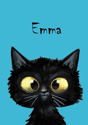 Emma - Coloring Book / Notebook / Diary - DIN A5 - cat – blank