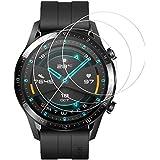 [3張] Snnsret Huawei Watch GT2 46mm 保護膜 Huawei Watch GT2 46mm 玻璃保護膜 硬度9H 液晶保護膜 99% 高透過率 / 零氣泡 防指紋/防污/自動吸附/防浮 鋼化玻璃保護膜
