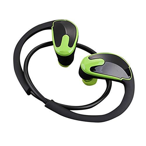 Wsaman Auriculares para Trabajo y Deportes Viaje,Auriculares Bluetooth 5.0 Impermeable, Auricular Bluetooth In-Ear, para Deportes, Oficina en Casa Trabajo,Verde