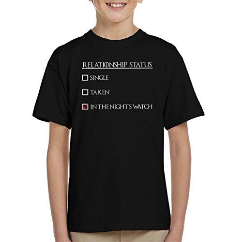 Cloud City 7 Relatie Status In De Nacht Horloge Spel Van Troons Kinder T-Shirt