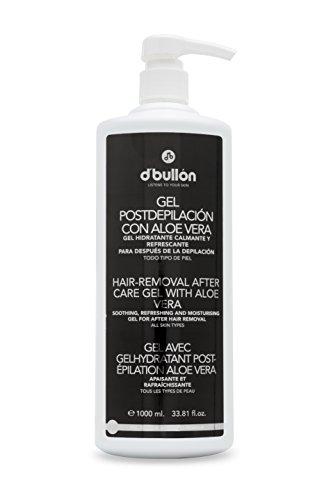 B D. BULLON Gel Post-depilación con Aloe Vera, Hidratante, Calmante y Refrescante, 1000 Mililitros
