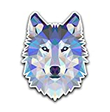 Wolf Head Polygon Geometric Sticker - Sticker Graphic - Auto, Wall, Laptop, Cell, Truck Sticker for Windows, Cars, Trucks