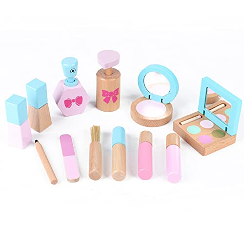 Warmdeco Wooden Simulation Toys Pretend Play Dressing Make Up Toys Set Baby Early Educational Toys For Children Gifts Girl Toys