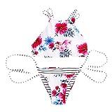 HETUI Mujeres Sexy Vendaje Push-up Bikini Set Sujetador Acolchado triángulo Traje de baño Traje de baño