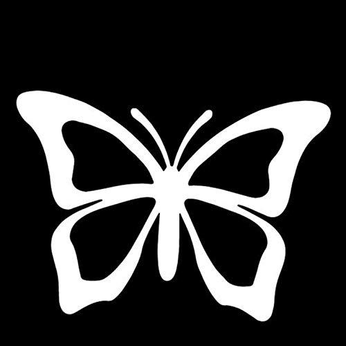 HKSOKLLJJ 2 uds Pegatinas y calcomanías para Coche 15,4 cm * 11,3 cm Mariposa Impermeable Reflectante Colorida Pegatina para Ventana de Coche Pegatina Exterior de Parachoques