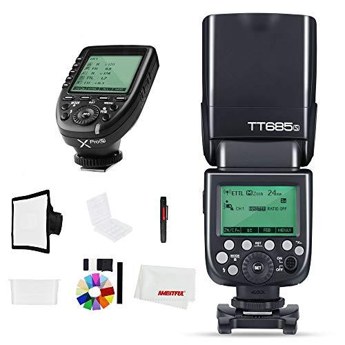 Godox TT685S 2.4 G TTL Flash de cámara de Alta Velocidad HSS 1/8000s GN60 con XPro-S Disparador de Flash inalámbrico para cámara Sony A58 A77II a7RII a99 etc.