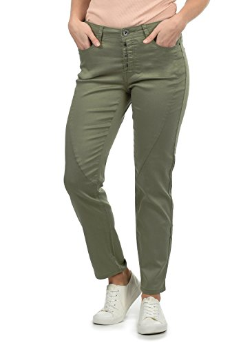 DESIRES Elbja Damen Jeans Denim Hose Boyfriend-Jeans Aus Stretch-Material Loose Fit, Größe:34, Farbe:Dusty Olive (3784)