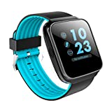 Martin's HomeM3 Touchable Smart Watch Wristbands Bracelet,Pedometer Activity Fitness Tracker with Colorful Screen & Heart Rate, Sleep,and Blood Pressure Monitor for Kids Women and Men (Blue)