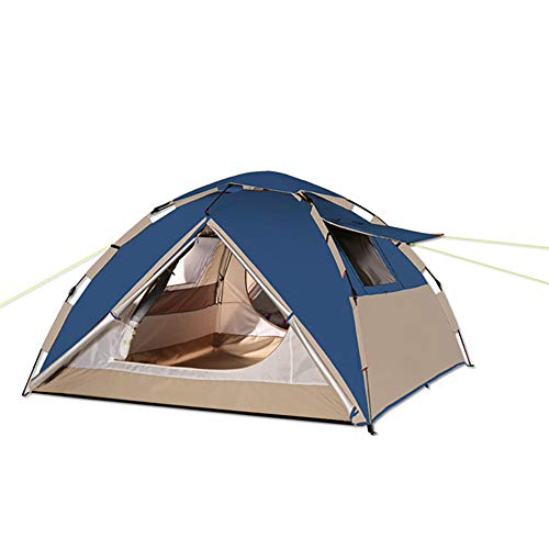 Tents for Camping Waterproof, Pop Up Camping Tents for 4 Person Family Dome Sun Shelters Backpacking Quick Set up Fit in Beach Mountain Grass Forest for Camping Hiking Outdoor Activities