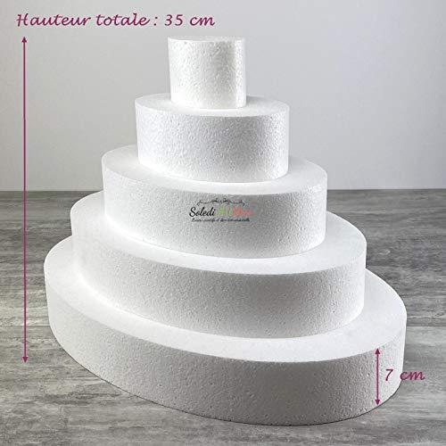 Lealoo ovale plaat van polystyreen met hoge dichtheid, hoogte 35 cm, basis 50 cm, dikte 7 cm