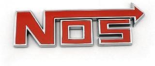 Automaze NOS Red Racing Sports Sticker 3D Chrome Badge Logo Sticker For Car & Bike