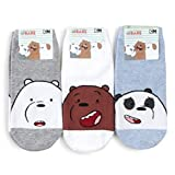 We Bare Bears Cartoon Officially Licensed Socks 3 Pairs Set