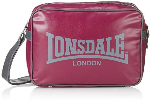 Lonsdale LONSDALE ENGLAND TASCHE LONDON GRAU WEISS Shoulder BAG SPORTTASCHE BOXTASCHE Color: Weinrot / Lila / Grau