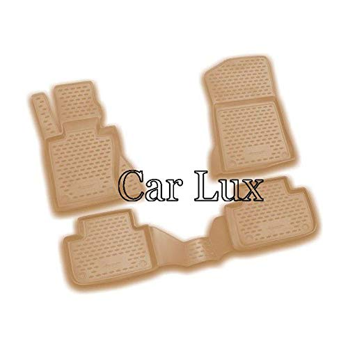 Car Lux AR05031 - Alfombrillas Alfombras de goma a medida con borde alto tipo cubeta 3D X3 E83