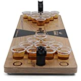 Grown Man Games Mini Beer Pong - Drinking Game - Party Game - Beer Game - Tabletop Beer Pong Table - Mini Pong Mini Game - Tabletop Beer Pong Set