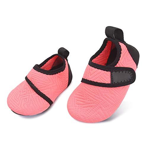 L-RUN Toddler Swim Shoes Barefoot Skin Aqua Sock Orange 18-24 Months=EU21-22
