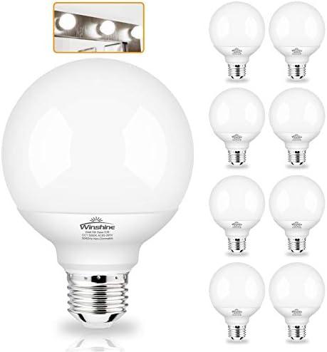 G25 Globe Light Bulbs 8 Pack LED Vanity Light 5000K Daylight for Bathroom Vanity Makeup Mirror product image