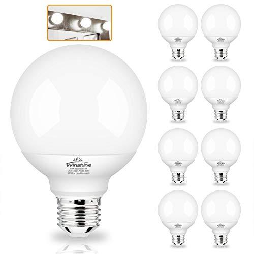 G25 Globe Light Bulbs, 8 Pack LED Vanity Light 5000K...