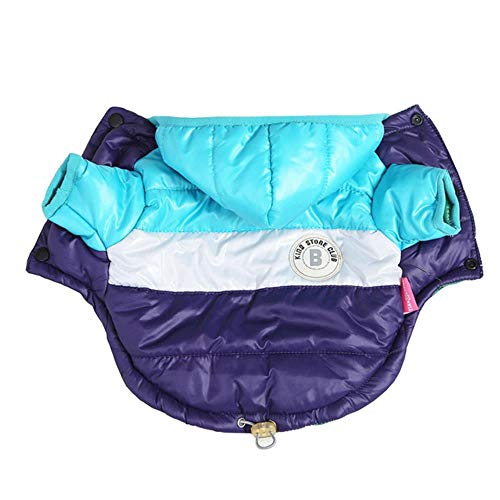 PONNMQ Pet Winter Clothes for Dogs Waterproof Hooded Dog Coat Warm Down Jacket Puppy Pet Clothing for Chihuahua French Bulldog,L,S