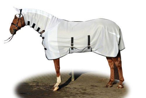 HKM - Camisa antimoscas, 559487, Blanc - Blanc, Longueur du dos 165 cm